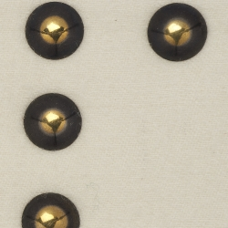 Large Stud #3 Brass with black 5/8