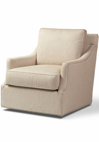 Heath #7404 Gresham House Furniture Style #7400 Swivel Chair - angle view