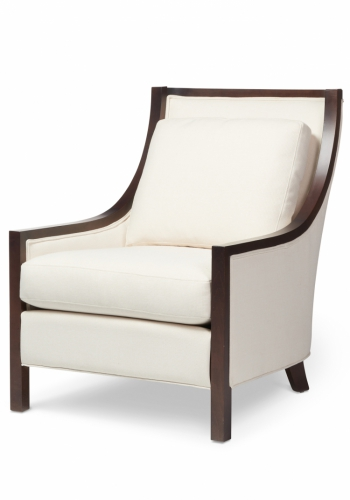 7057 Gresham House Furniture Style #7057 chair with elegantly contoured back - angle view