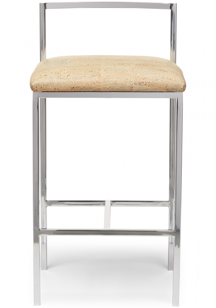 6171 Gresham House Furniture Style #6171 in bar stool in polished chrome - front view