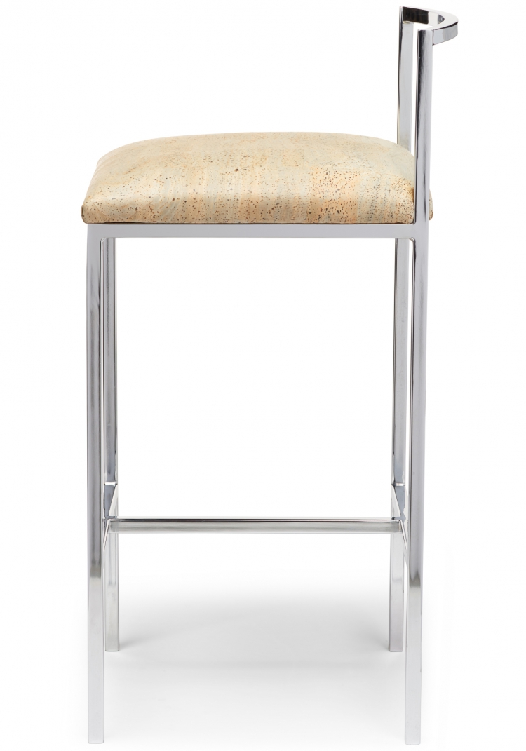 6171 Gresham House Furniture Style #6171 in bar stool in polished chrome - side view