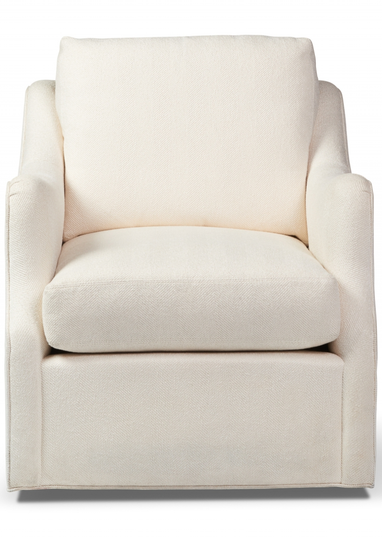 3588 SW Gresham House Furniture Style #3588 Swivel Chair with upholstered skirt - front view