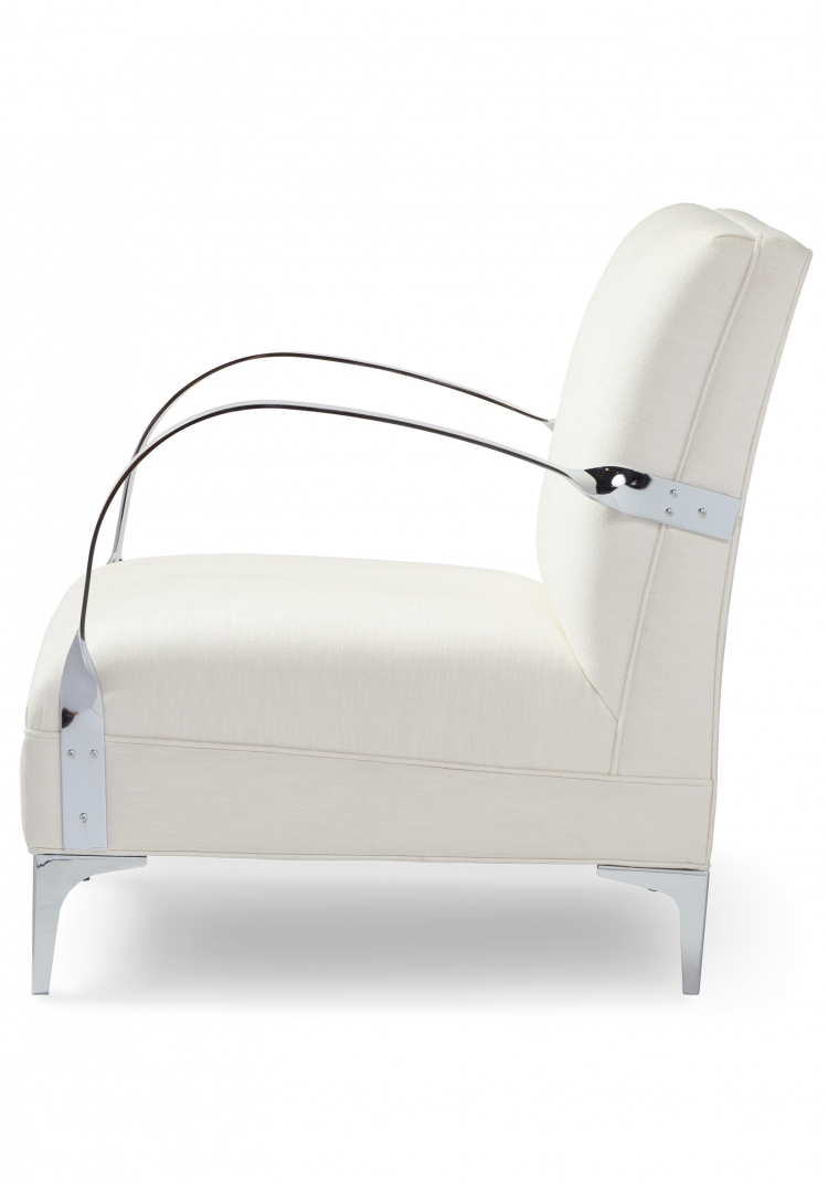 7116 Gresham House Furniture Style #7116 Chair Crisp architectural form - side view