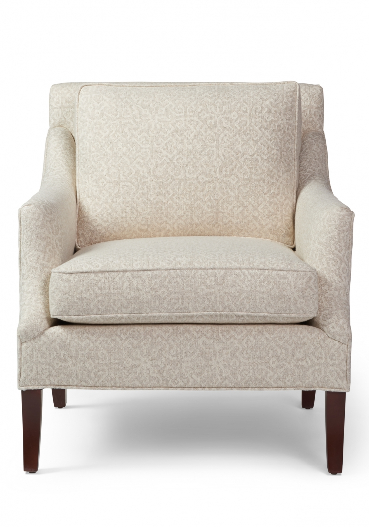 7055  Gresham House Furniture Style #7055 Long and lean chair - front view