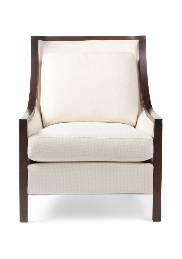 7057  Gresham House Furniture Style #7057 chair with elegantly contoured back - front view