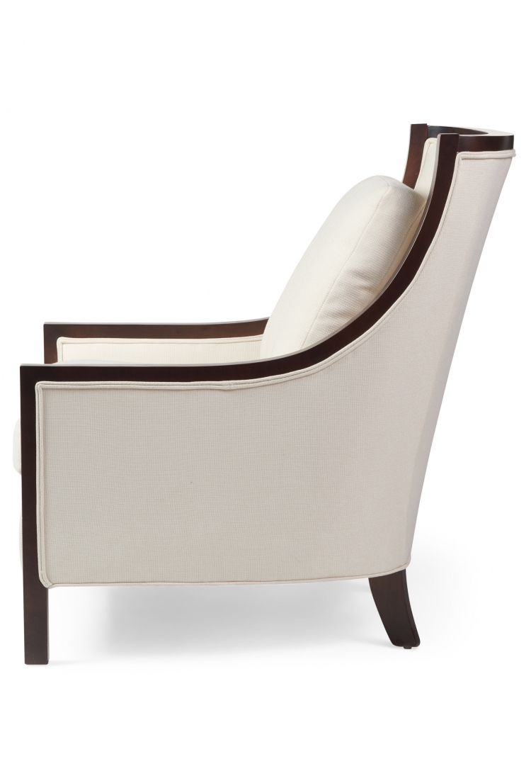 7057  Gresham House Furniture Style #7057 chair with elegantly contoured back - side view