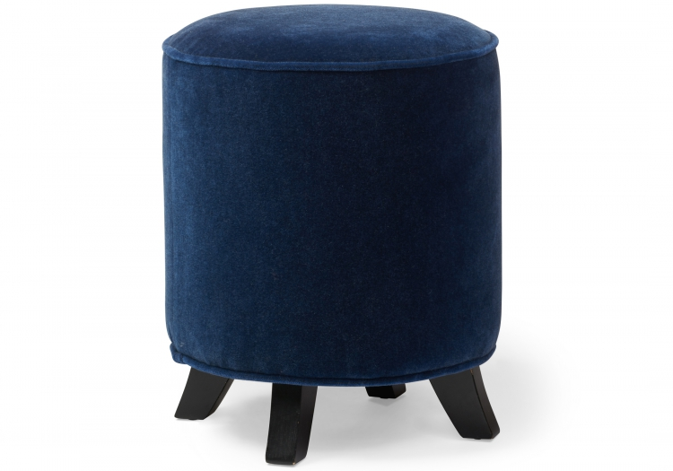 7086 Gresham House Furniture Ottoman Drum stool - cute as a button. Stud detail is extra.