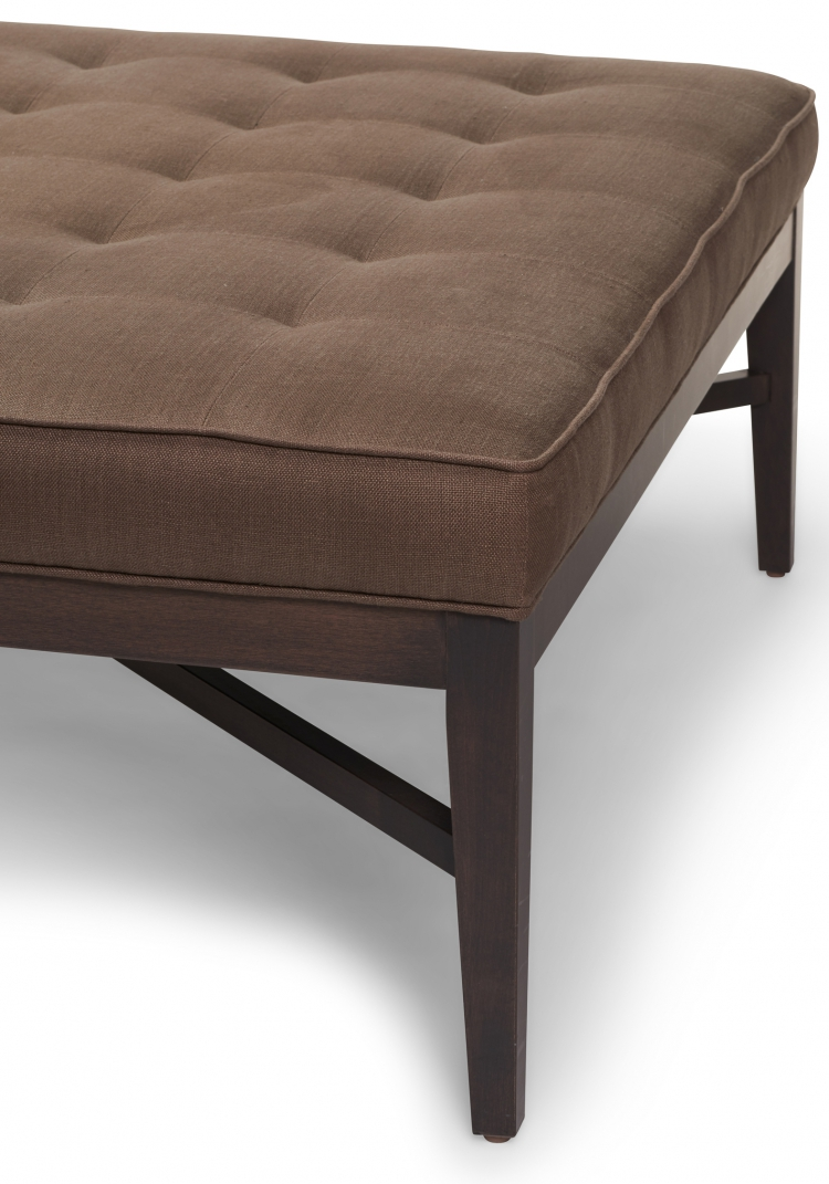 7951 Gresham House Furniture modern tufted Ottoman Style #7951 - detail view