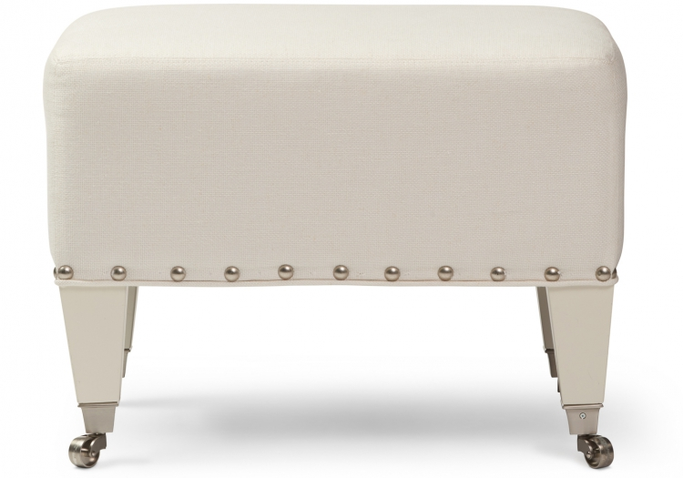 7974 Gresham House Furniture Ottoman Style #7974 Crisp and clean. The details of this simple ottoman really pop!